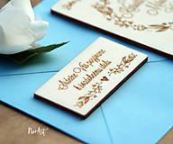 Papiernictvo - Pozvánka k svadobnému stolu 1 - 9540465_