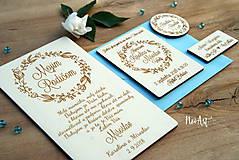 Papiernictvo - Svadobná kniha hostí, drevený fotoalbum - venček - 9543196_