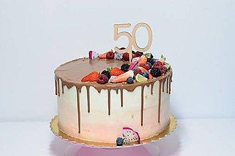 Dekorácie - Zápich na tortu číslo 50 - 9543335_