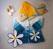Detské oblečenie - Svetrík tyrkysovo - žltý FROM YOU - 9541958_