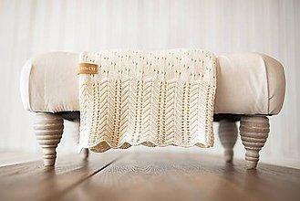 """Textil - Detská deka, """"Daisy"""",OEKO-TEX® - Béžová - 9543388_"""
