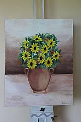 Obrazy - Kytica kvetov - predané - 9540794_