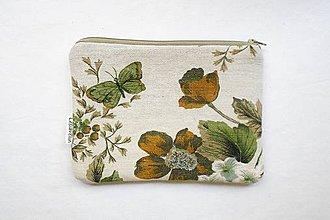 Taštičky - Taštička väčšia - Motýľ a kvety 2 - 9542023_