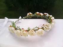 Ozdoby do vlasov - Kvetinový venček do vlasov
