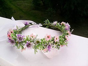 """Ozdoby do vlasov - Kvetinový venček do vlasov """"... lúčne kvietky ..."""" - 9541856_"""