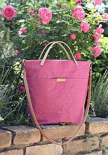 Kabelky - Veľká dámska elegantná kabelka z nepremokavého ľanu