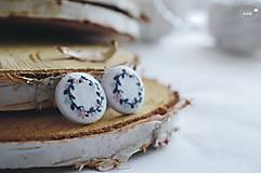 Náušnice - Venčeky modré - veľké - 9542323_