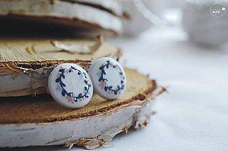 Náušnice - Venčeky modro-ružové - veľké - 9542323_