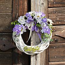 Dekorácie - Venček na dvere Vitajte - 9543484_
