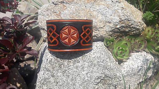Slovanský kožený náramok Svarga