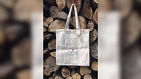 Iné tašky - ♥ Plátená, ručne maľovaná taška ♥ - 9540559_