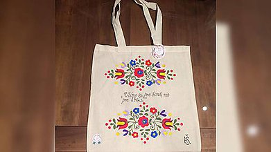 Iné tašky - ♥ Plátená, ručne maľovaná taška ♥ - 9543219_
