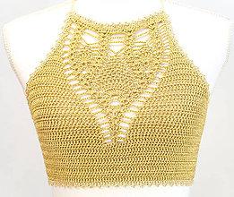 Topy - Letný top Pineapple - Gold - 9542689_