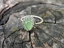 Prstene - Strieborny prsteň Ag 925 Prehnit - 9541950_