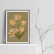 Grafika - Botanika - Tulipán II. - Art Print - 9541355_