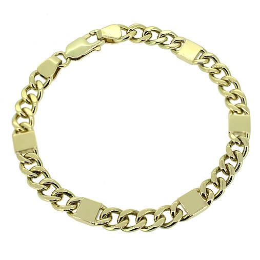 db85c7032 Pánsky náramok zo žltého zlata / GoldHands - SAShE.sk - Handmade Náramky