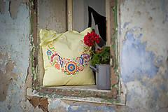 Nákupné tašky - Textilna taška žltá - 9541328_