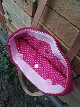 Veľké tašky - ružová dúhová - 9543089_