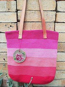 Veľké tašky - ružová dúhová - 9543097_