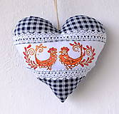 Dekorácie - Maľované srdce s levanduľou - 9540340_
