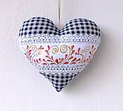 Maľované srdce s levanduľou (srdiečkové)