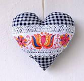 Dekorácie - Maľované srdce s levanduľou (kvetinkové) - 9540346_