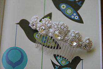 Iné šperky - hrebeň do vlasov pre nevestu - 9541456_