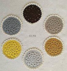 Úžitkový textil - Háčkované podšálky v zemitých tónoch - 9540544_