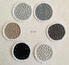 Úžitkový textil - Háčkované podšálky pre minimalistov - 9540555_