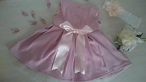 Šaty - Mama a dcéra - šaty - Ice Pink Pivonium - 9546131_