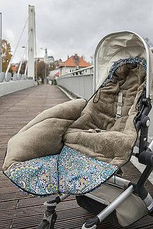 Textil - Fusak s tmavozeleným fleecom - 9543715_