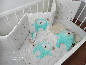 Textil - Kolekcia Basic (mantinel/deka/hrýzatko/macko) - 9545946_