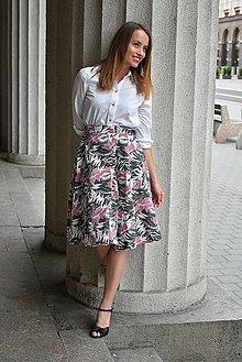 Sukne - Sukně ELIS, květovaný vzor - 9543922_