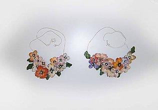 Náhrdelníky - náhrdelník-shabby chic/ 1ks v pravo - 9544388_