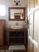 Nábytok - Stolík - skrinka pod umývadlo - NATURAL masív - 9544472_