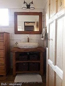 Nábytok - Stolík - skrinka pod umývadlo - NATURAL masív (DUB prírodný) - 9544472_