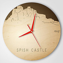 Hodiny - Spish Castle - plywood reversed clocks - 9545143_