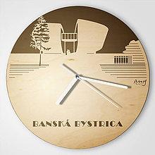 Hodiny - Pamätník SNP, Banská Bystrica - plywood reversed clocks - 9545314_
