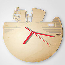 Hodiny - Pamätník SNP, Banská Bystrica - plywood cut out clocks - 9545332_