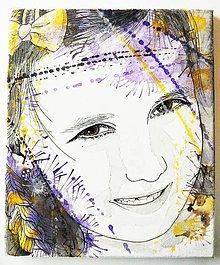 Obrazy - Portrét na plátne 4 - 9545885_