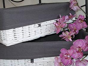 Košíky - Košíky - Biele so šedou košieľkou - 9544403_