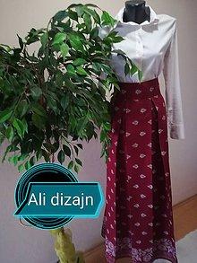 Sukne - Dlhá folková sukňa  (Bordová) - 9546182_