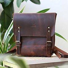 Batohy - Kožený batoh Lara 2 (crazy tmavohnedý) - 9543705_