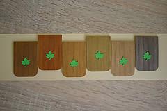 Papiernictvo - Magnetická záložka stromová - s listom - 9544032_