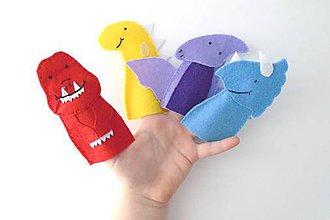 Hračky - Bábky na prsty: Dinosaury - 9543813_