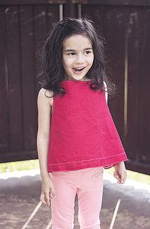 Detské oblečenie - Detské ľanové tričko//zľava - 9546055_