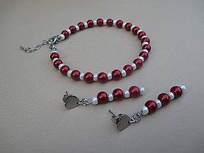 Sady šperkov - Náramok a srdiečkové náušnice-chirurgická oceľ - 9546285_