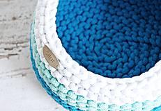 Košíky - Pletený košík - farby oceánu - 9546193_