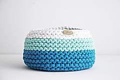 Košíky - Pletený košík - farby oceánu - 9546194_