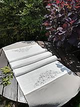 Úžitkový textil - Ľanová štóla s výšivkou - 9545420_